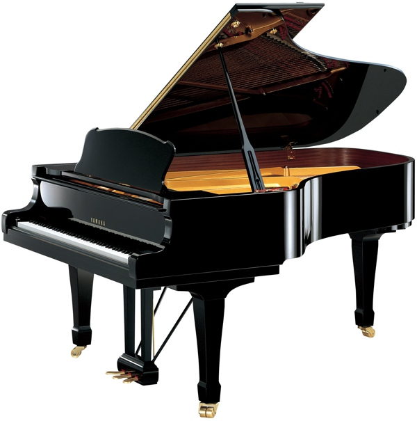 Modern yamaha grand pianos for Aprire piani moderni