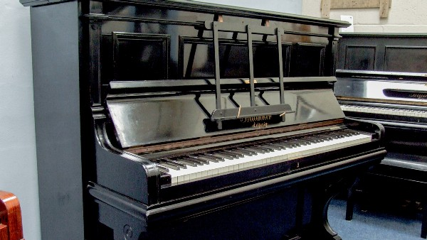 black polish bluthner upright piano