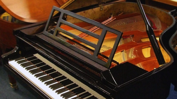 feurich 178 grand piano in black