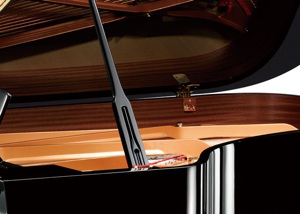 brand new black open top grand piano by yamaha pianos