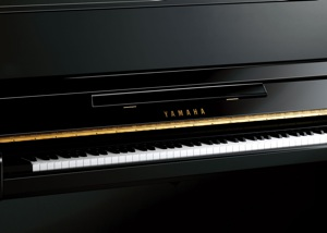 brand new black upright piano by yamaha pianos