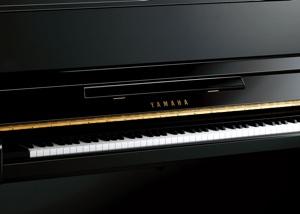 brand new black upright piano by yamaha pianos