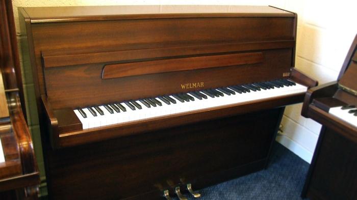 welmar upright piano in walnut