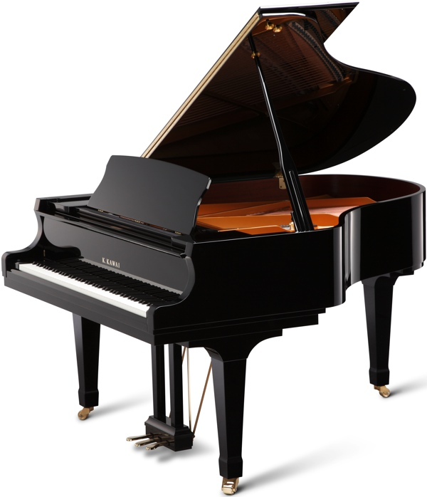 GX-2 kawai grand piano in black