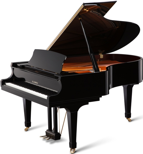 GX-5 kawai grand piano in black