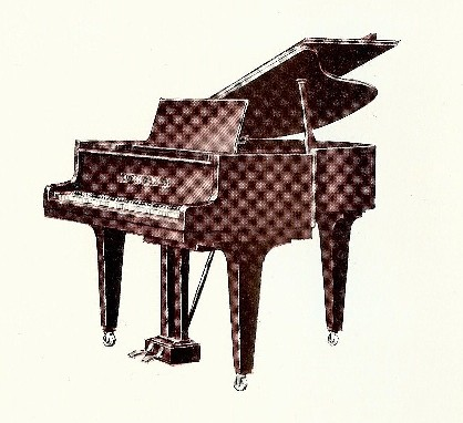 Model 160 Grotrian Steinweg Boudoir Grand Piano