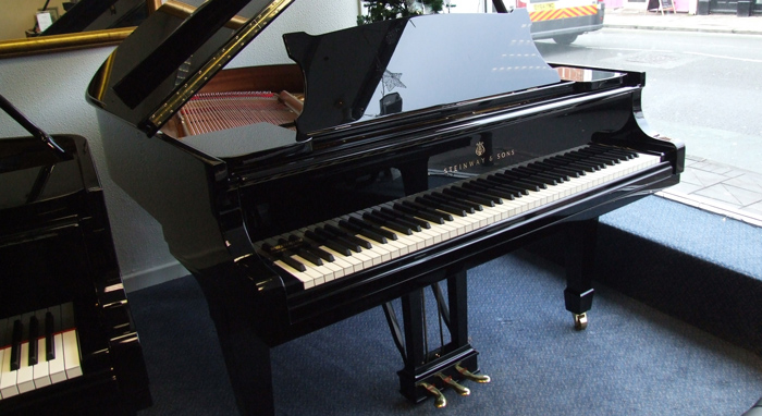 black model m grand piano by steinway pianos
