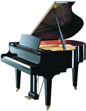 model GE30 kawai grand piano in black polyester