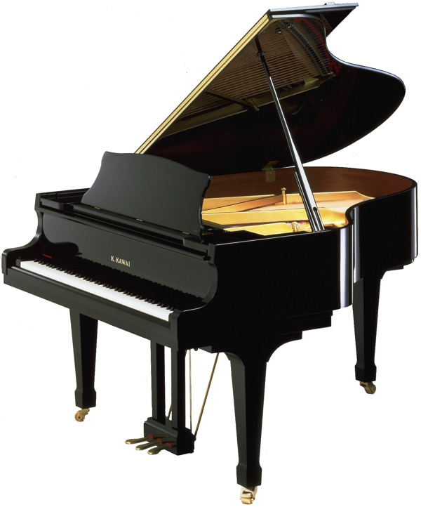 model RX-2 kawai grand piano in black polyester