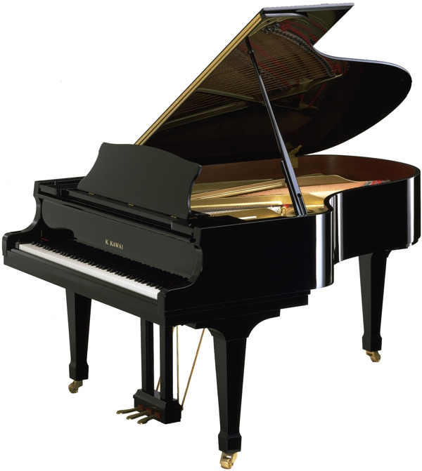 model RX-5 kawai grand pianos in black polyester