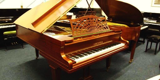 mahogany case bechstein model b grand piano
