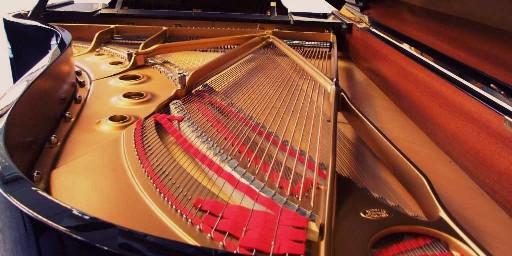 black model b grand piano soundboard by steinway pianos