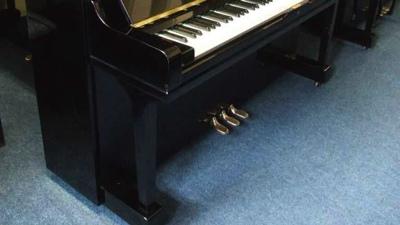 black polyester yamaha u3 upright piano