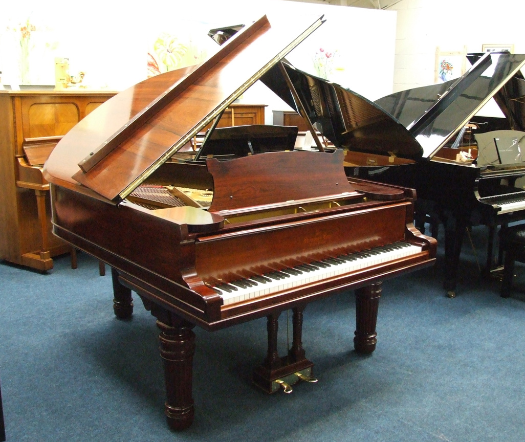 A Steinway grand piano in one of Roberts Pianos showrooms