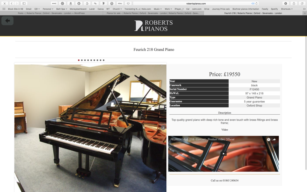 Feurich piano pianos for sale