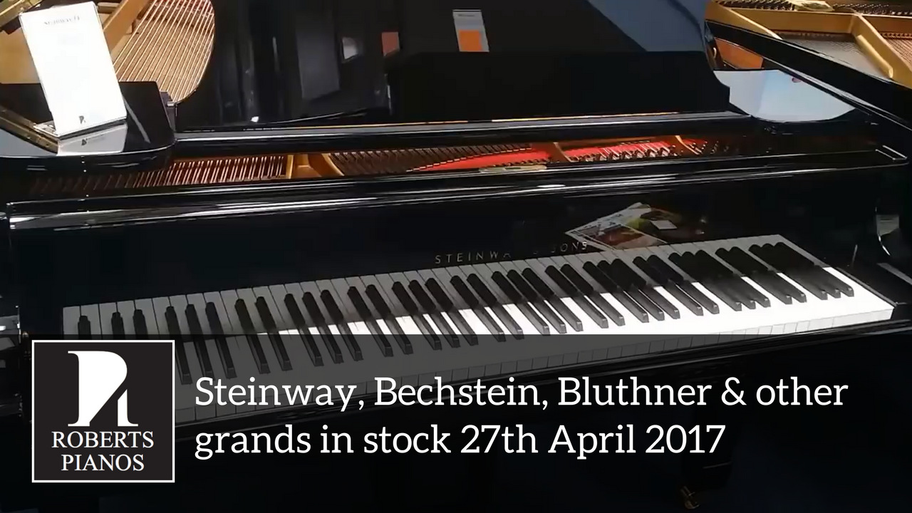 Video thumbnail Steinway, Bechstein, Blutleer and other pianos in stock