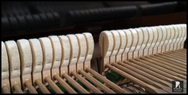 Hammer refacing Seiler grand piano