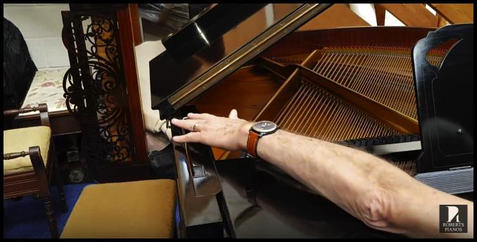 Seiler grand piano celest lever
