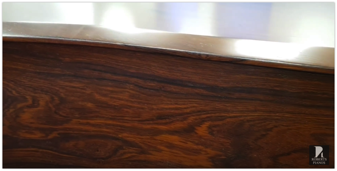 Piano veneer pattern