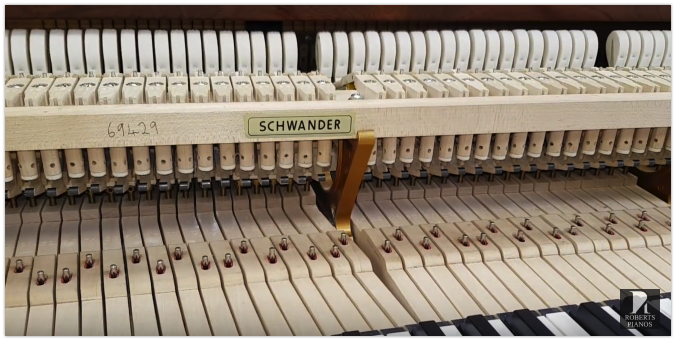 Schwander grand piano action
