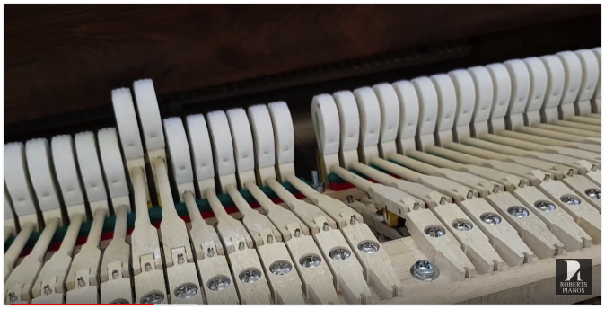 Piano hammer regulation let-off and spring