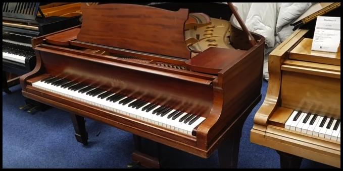 1930's Steinway model M grand piano in mahogany