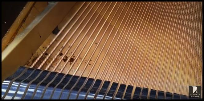 Soundboard spillage on a Steinway model M
