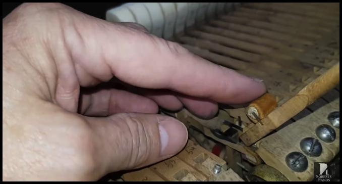 Steinway model M original rollers